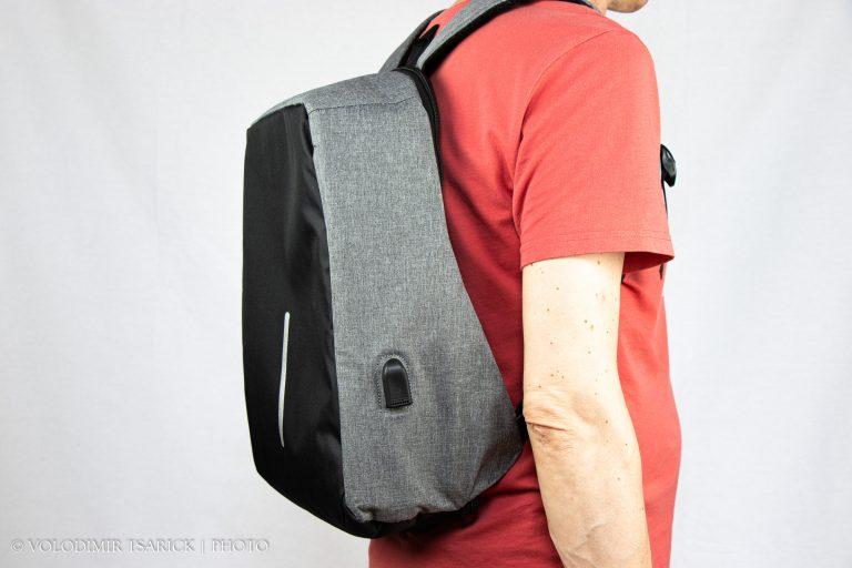 Сіро-чорний рюкзак